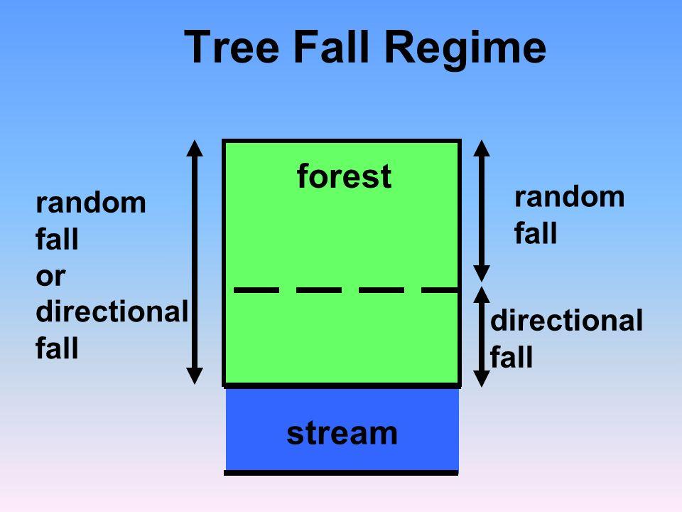 directional fall random fall Tree Fall Regime stream forest random fall or directional fall