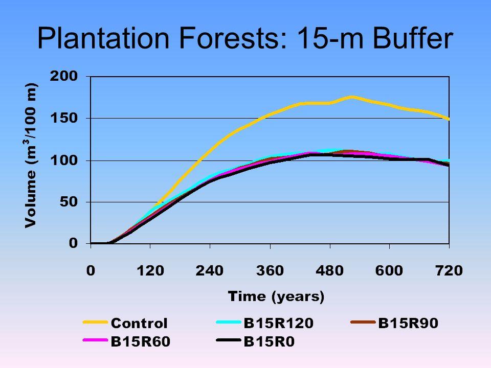 Plantation Forests: 15-m Buffer