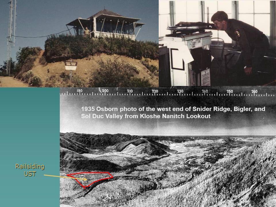 Sol Duc Area Fires, 1895 to Present Forks Prairie Snider Ridge BiglerMt Bigler Mt Snider First Sol Duc Burnca. 189527,300 Acres Great Sol Duc Fire1907