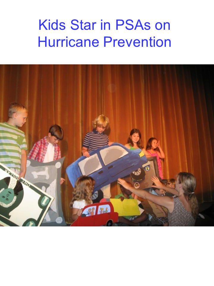 Kids Star in PSAs on Hurricane Prevention