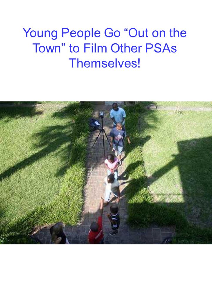 Young People Go Out on the Town to Film Other PSAs Themselves!