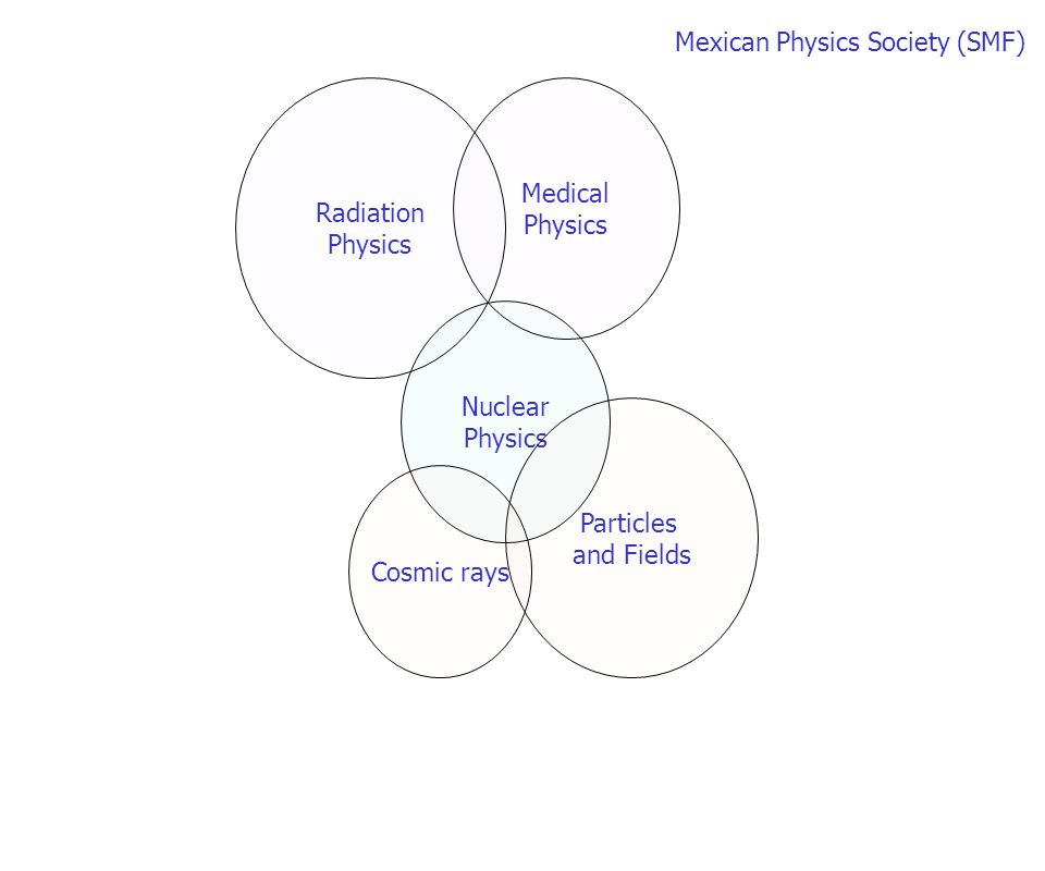 Nuclear Physics Particles and Fields Medical Physics Radiation Physics Cosmic rays Mexican Physics Society (SMF)