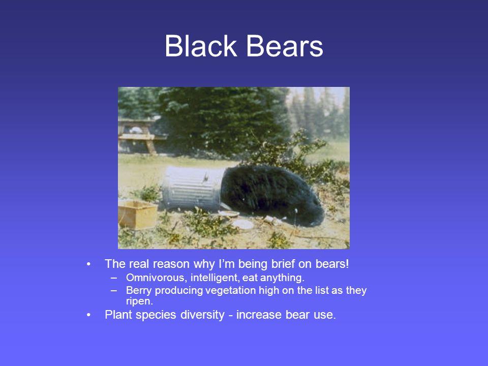 Black-tailed Deer Range CA to AK Variety of habitats Population density –Highest in early seral