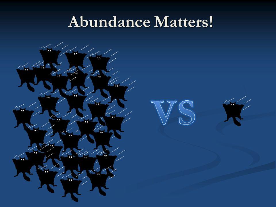 Abundance Matters!