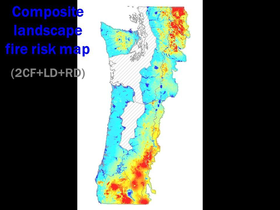 Composite landscape fire risk map (2CF+LD+RD)