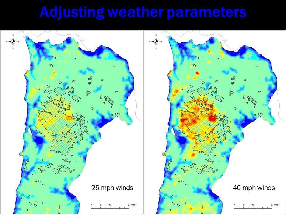 Adjusting weather parameters
