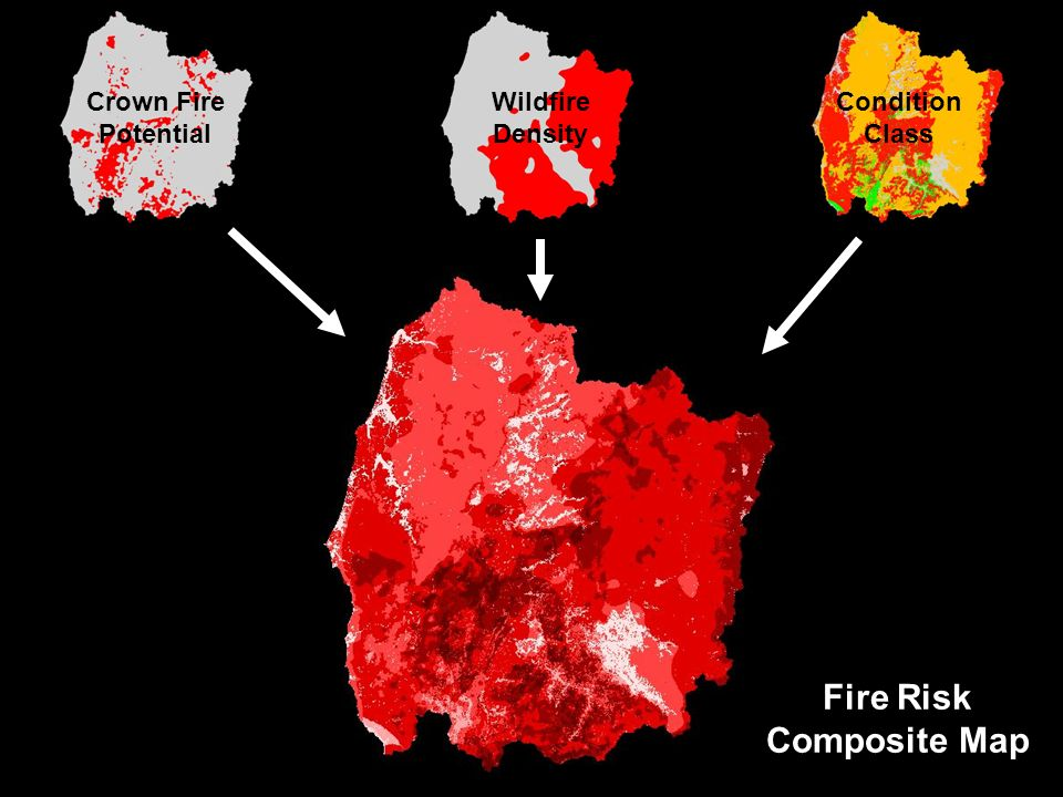 Crown Fire Potential Wildfire Density Condition Class Fire Risk Composite Map