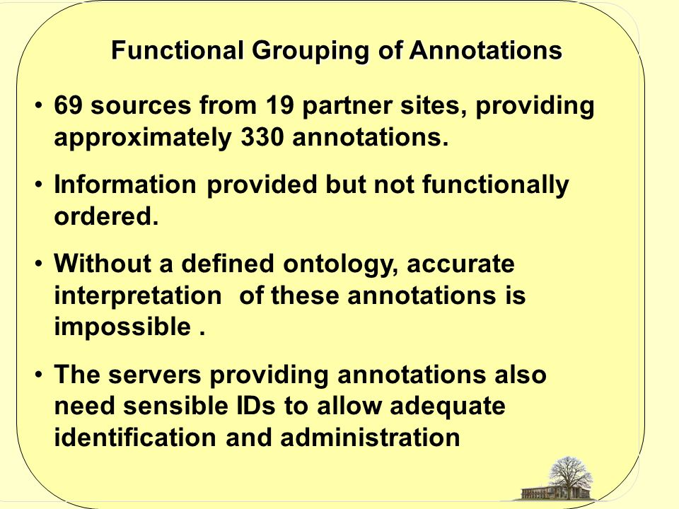 69 sources from 19 partner sites, providing approximately 330 annotations.