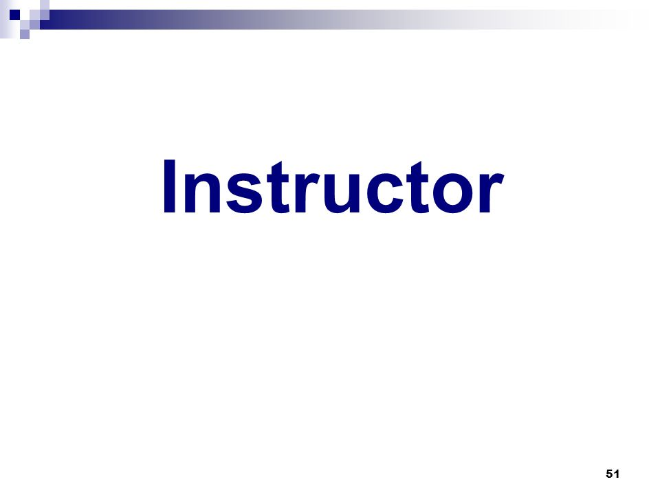 51 Instructor