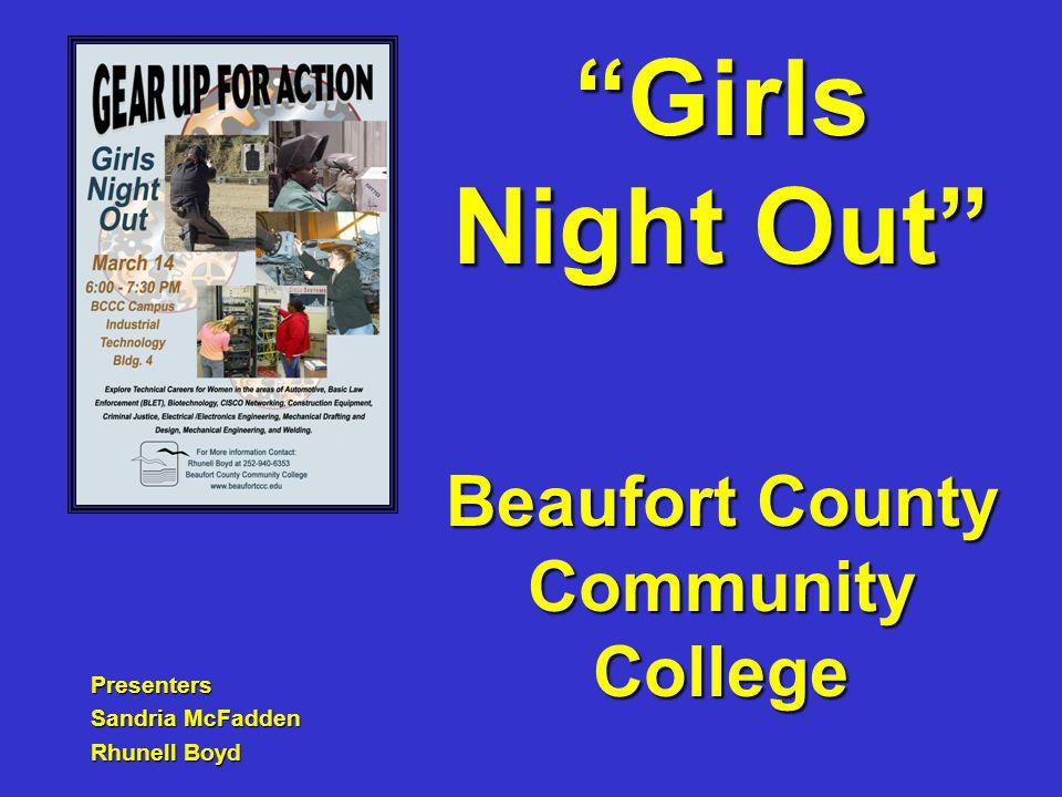 Beaufort County Community College Presenters Sandria McFadden Rhunell Boyd Girls Night Out