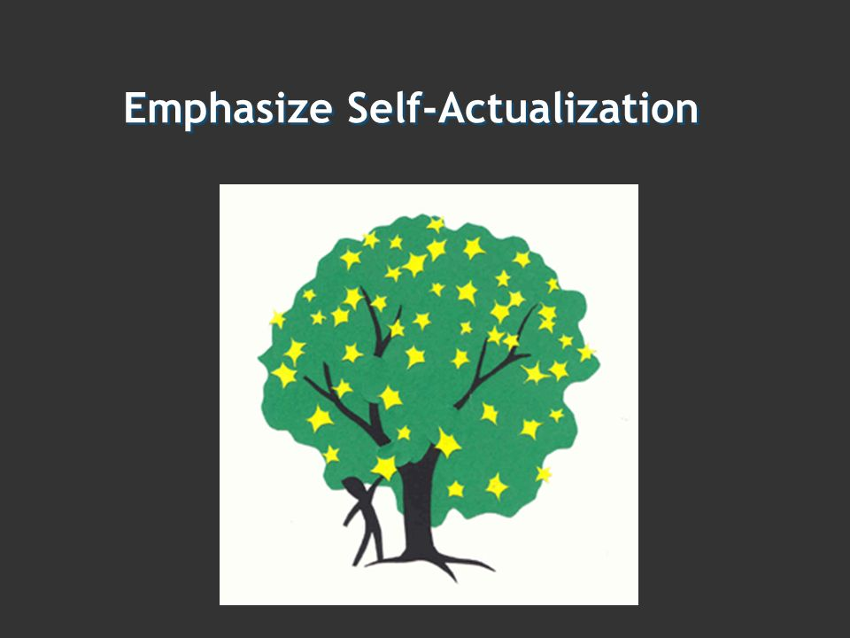 Emphasize Self-Actualization