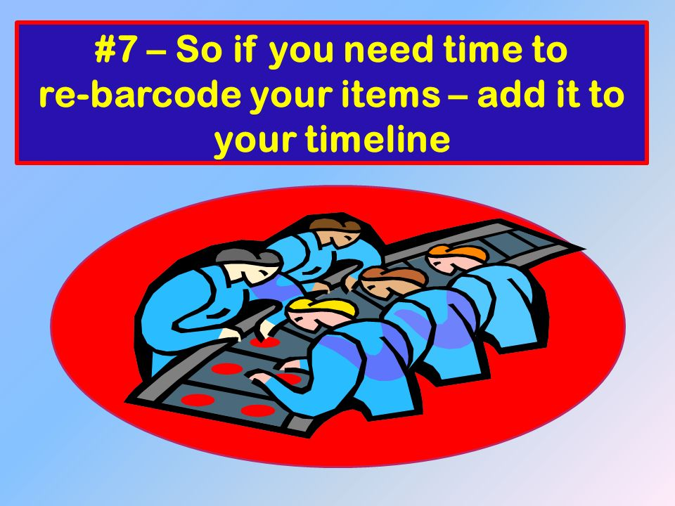 Barcode format Digits: Meaning: Item or patron (3 for items and 2 for patrons) Institution number Item or Patron Identification Number Check Digit