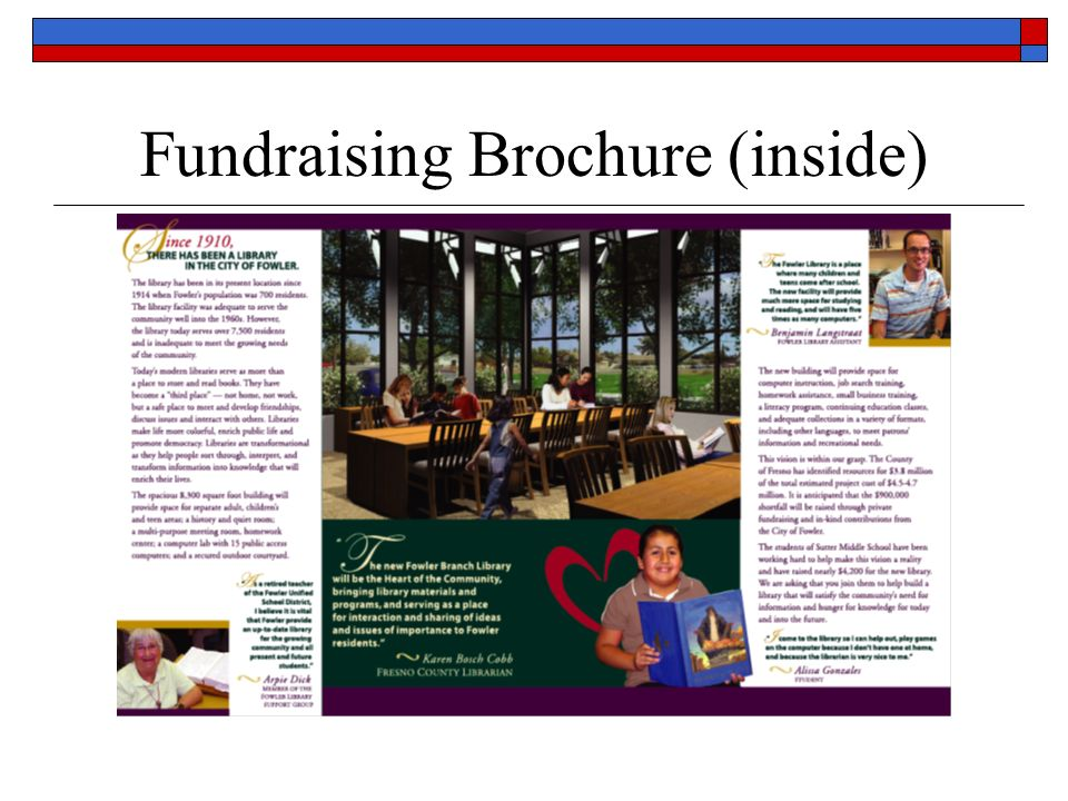 Fundraising Brochure (inside)