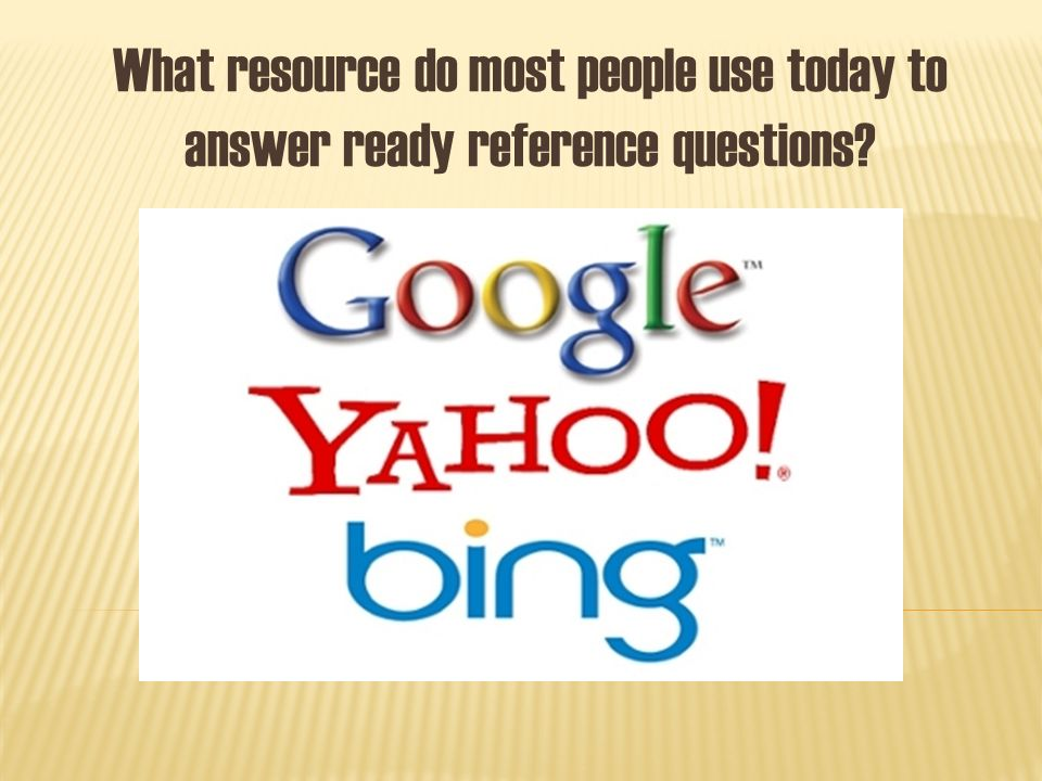 What resource do most people use today to answer ready reference questions