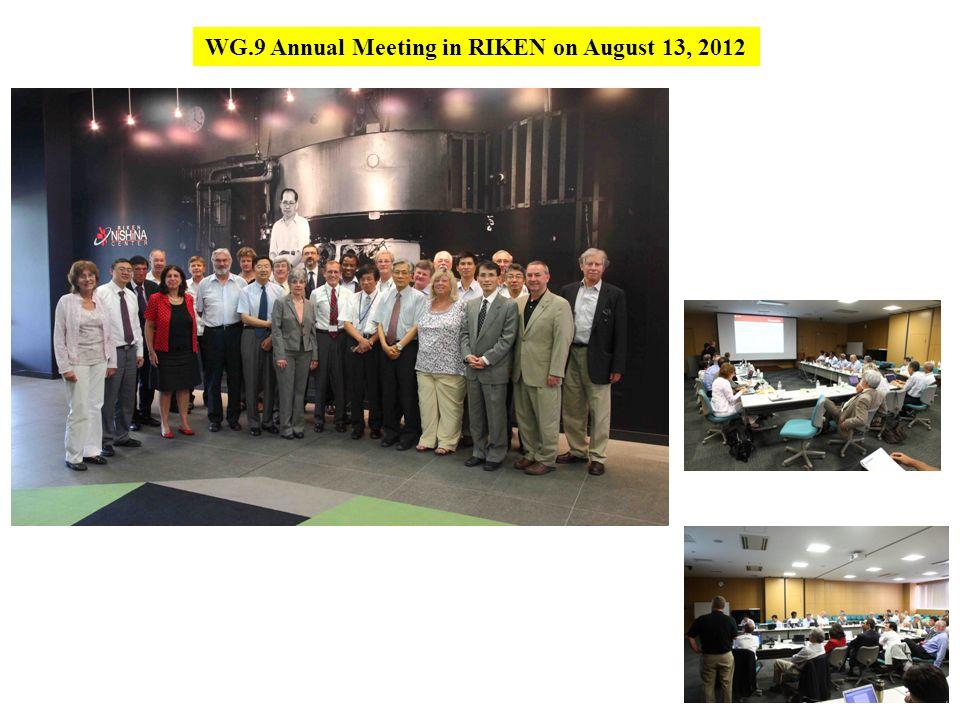WG.9 Annual Meeting in RIKEN on August 13, 2012