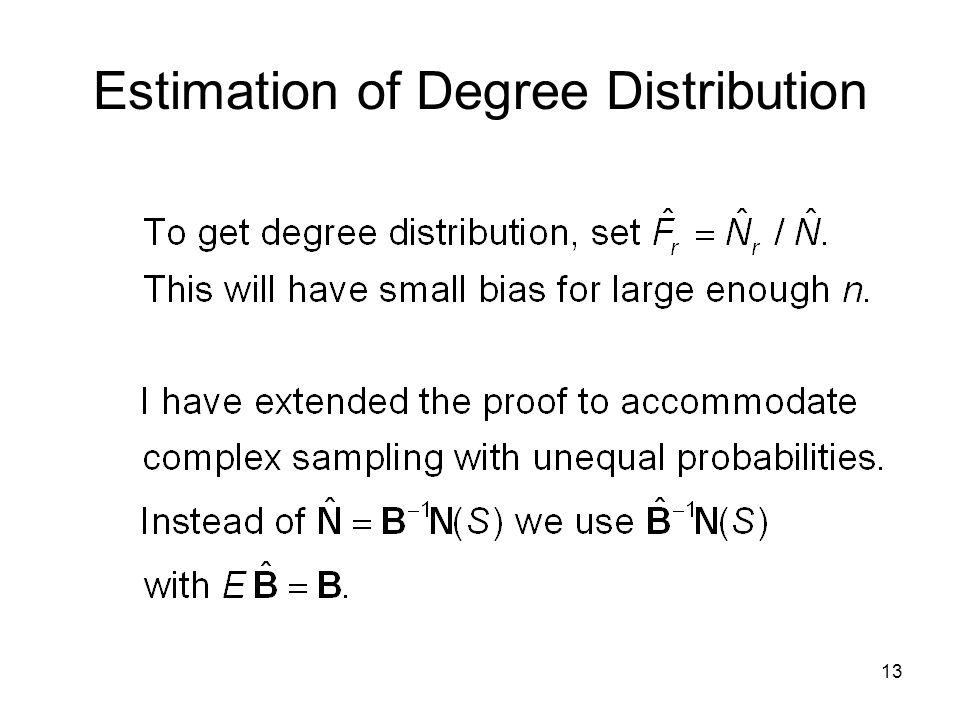13 Estimation of Degree Distribution