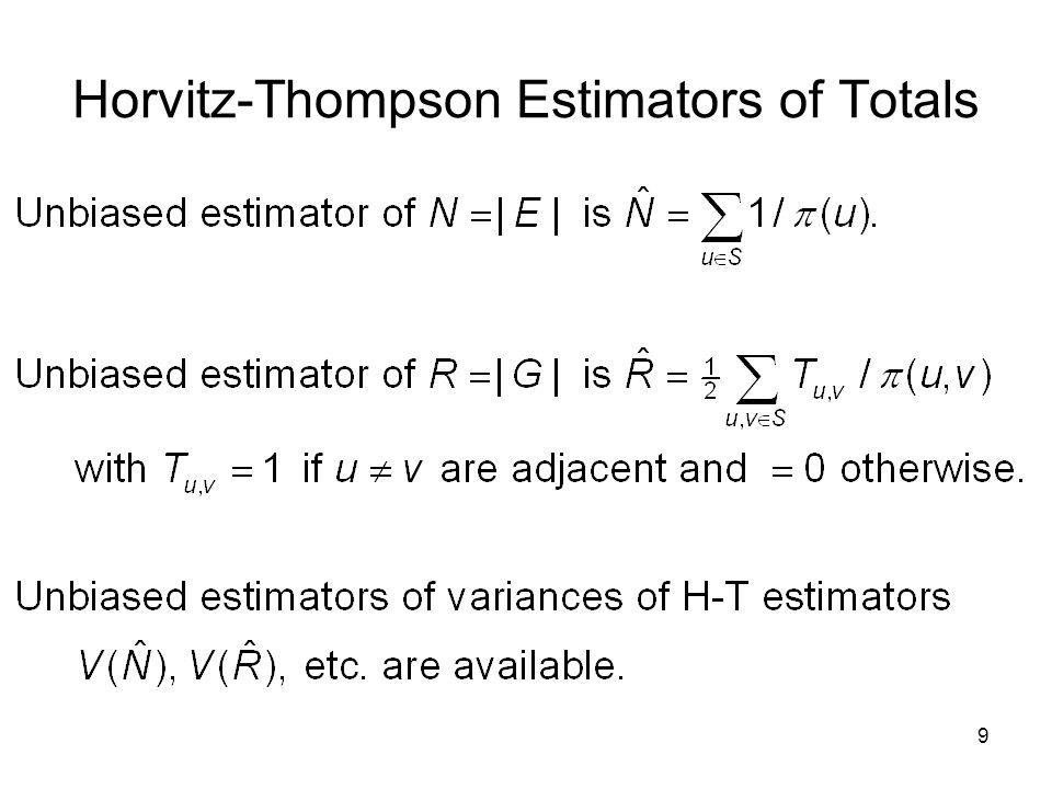 9 Horvitz-Thompson Estimators of Totals