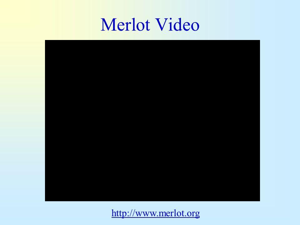 Merlot Video http://www.merlot.org