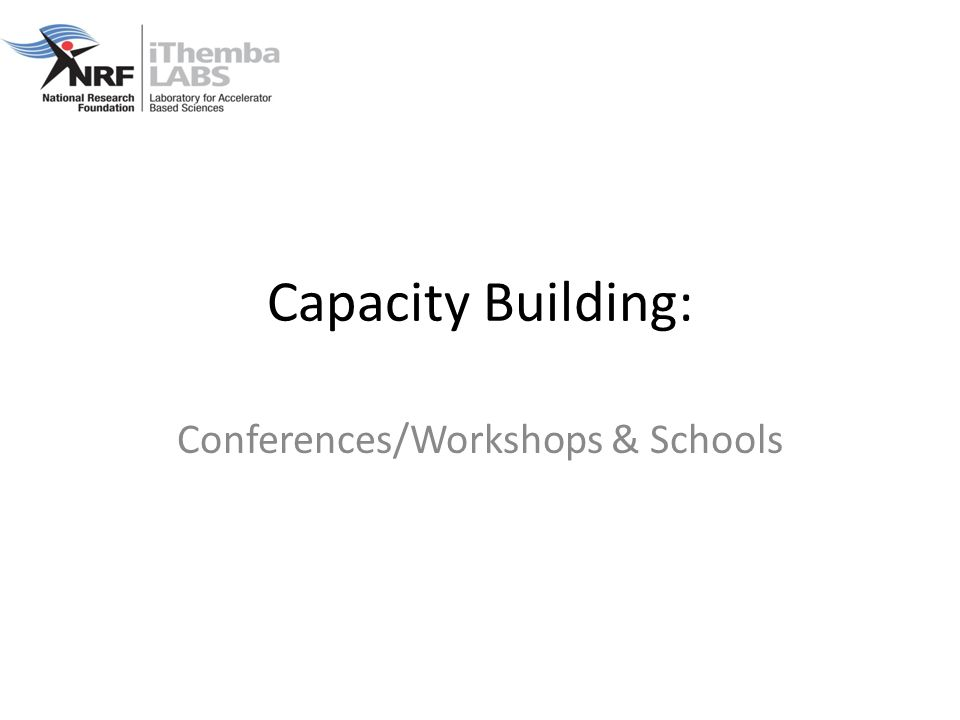 Capacity Building: Conferences/Workshops & Schools