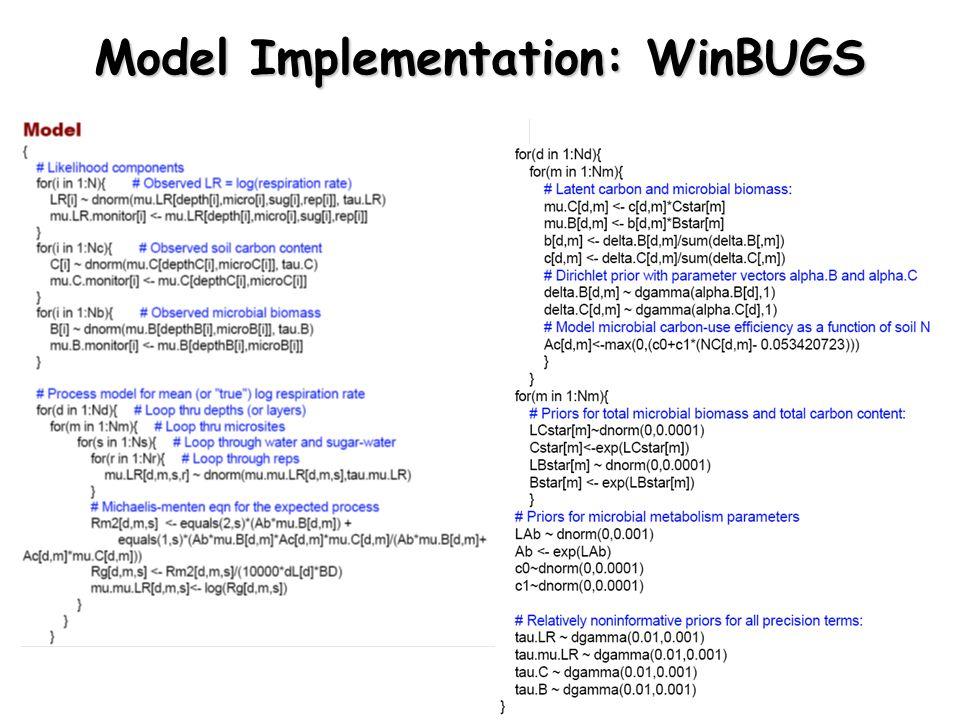 Model Implementation: WinBUGS