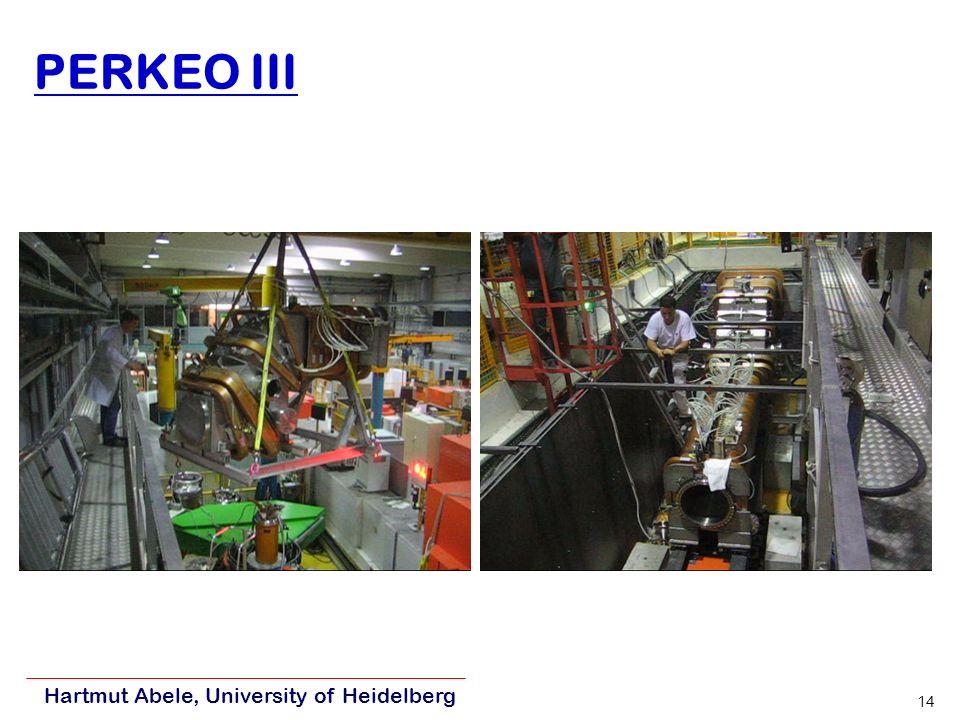 Hartmut Abele, University of Heidelberg 14 PERKEO III