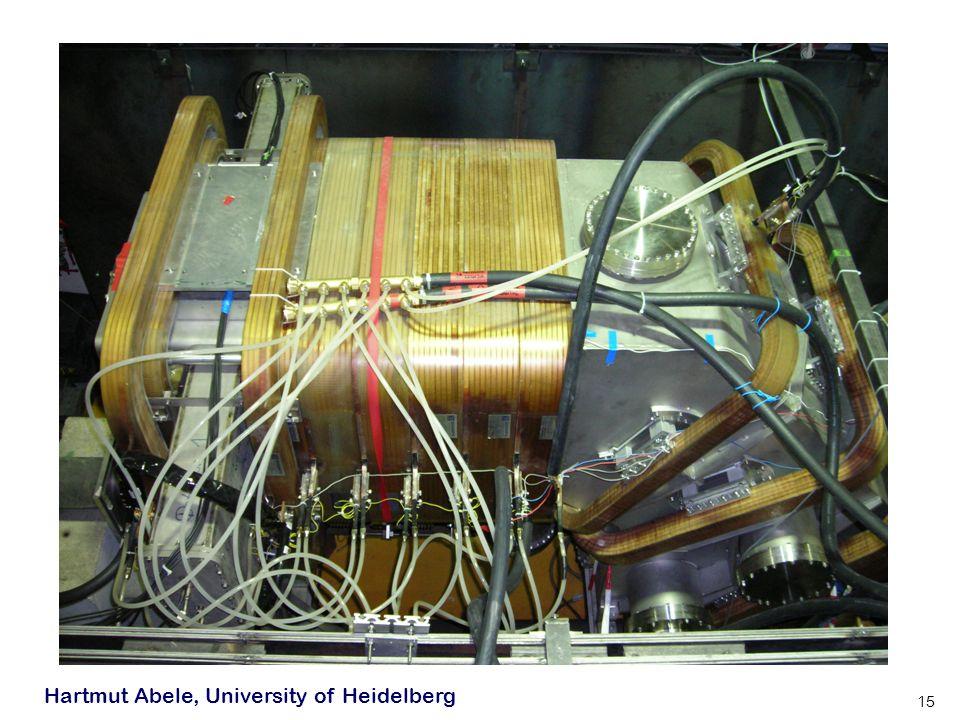 Hartmut Abele, University of Heidelberg 15
