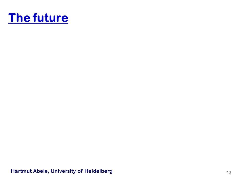 Hartmut Abele, University of Heidelberg 46 The future