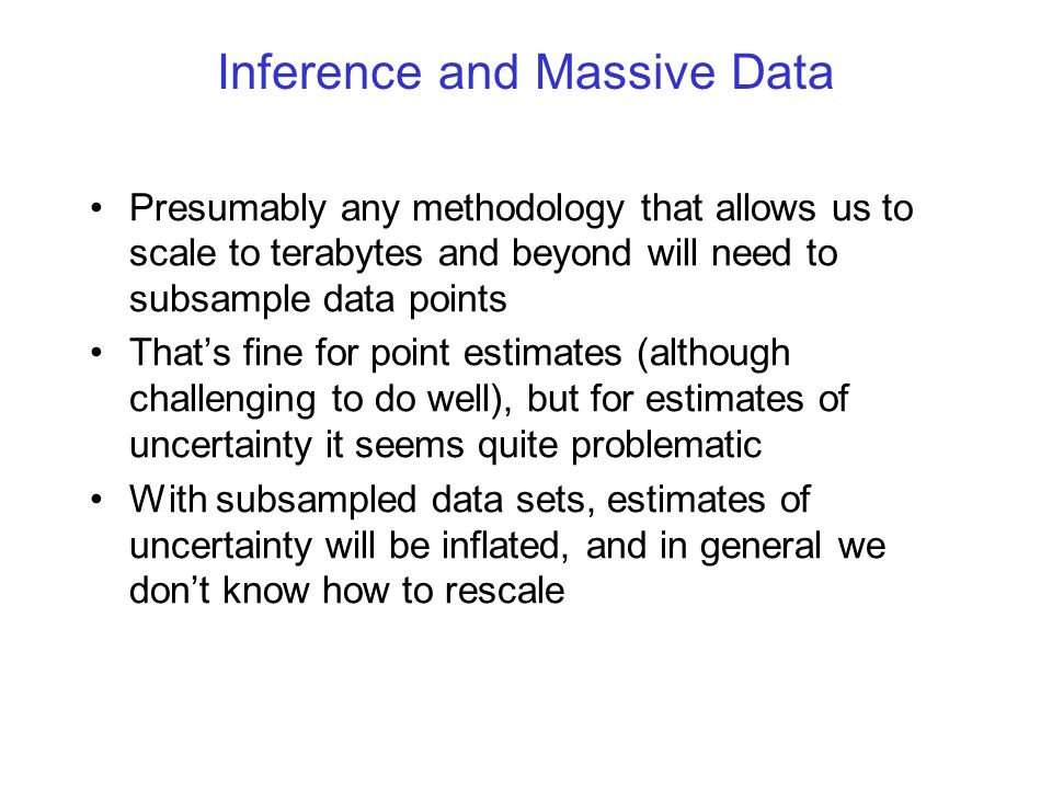 The Unachievable Frequentist Ideal Ideally, we would Observe many independent datasets of size n.