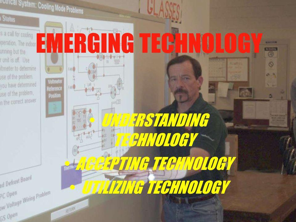 EMERGING TECHNOLOGY UNDERSTANDING TECHNOLOGY ACCEPTING TECHNOLOGY UTILIZING TECHNOLOGY