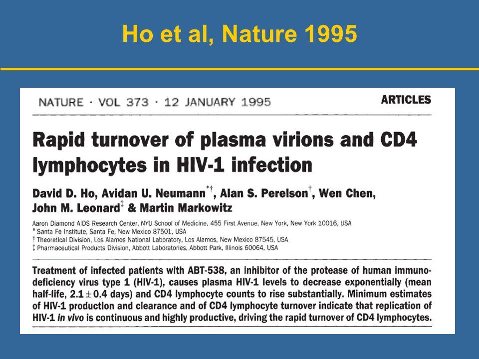 Ho et al, Nature 1995