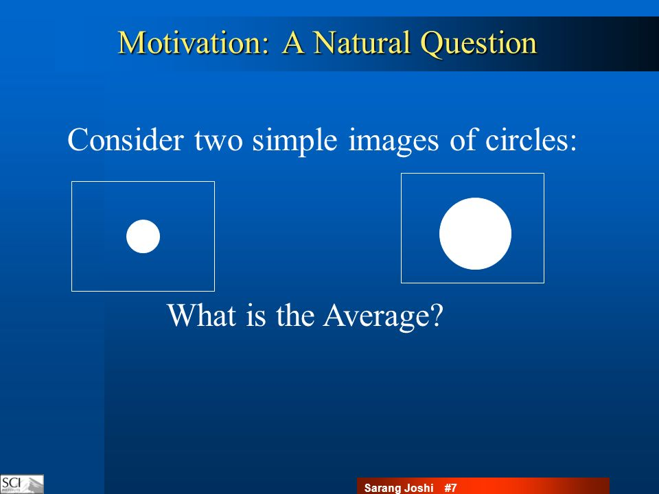 Sarang Joshi #8 Motivation: A Natural Question What is the Average.