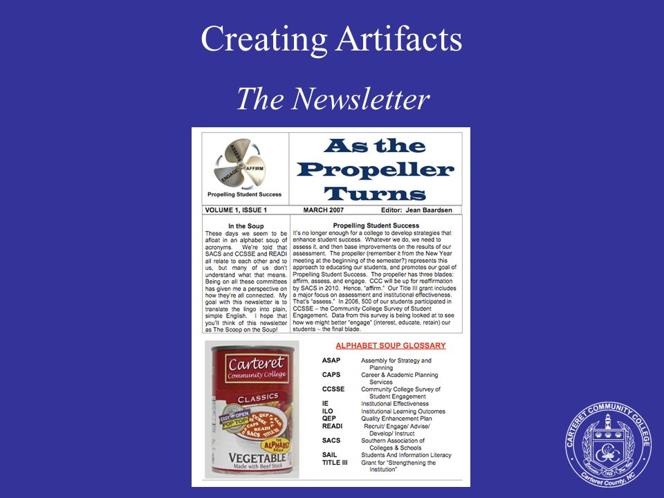 Creating Artifacts The Newsletter