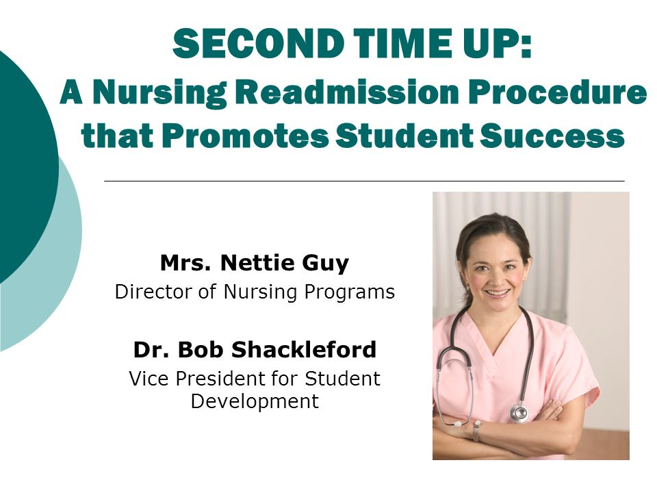SECOND TIME UP: A Nursing Readmission Procedure that Promotes Student Success Mrs.