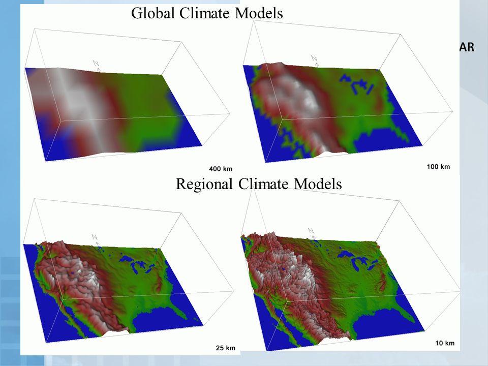 Global Climate Models Regional Climate Models