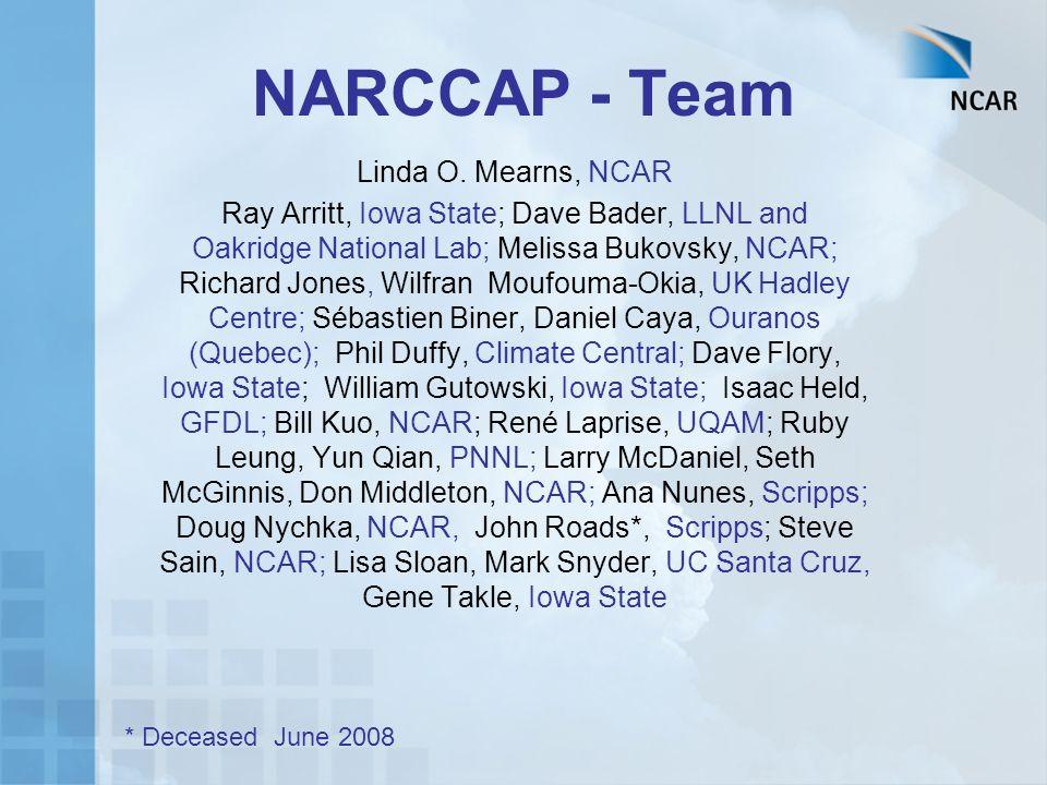 NARCCAP - Team Linda O.
