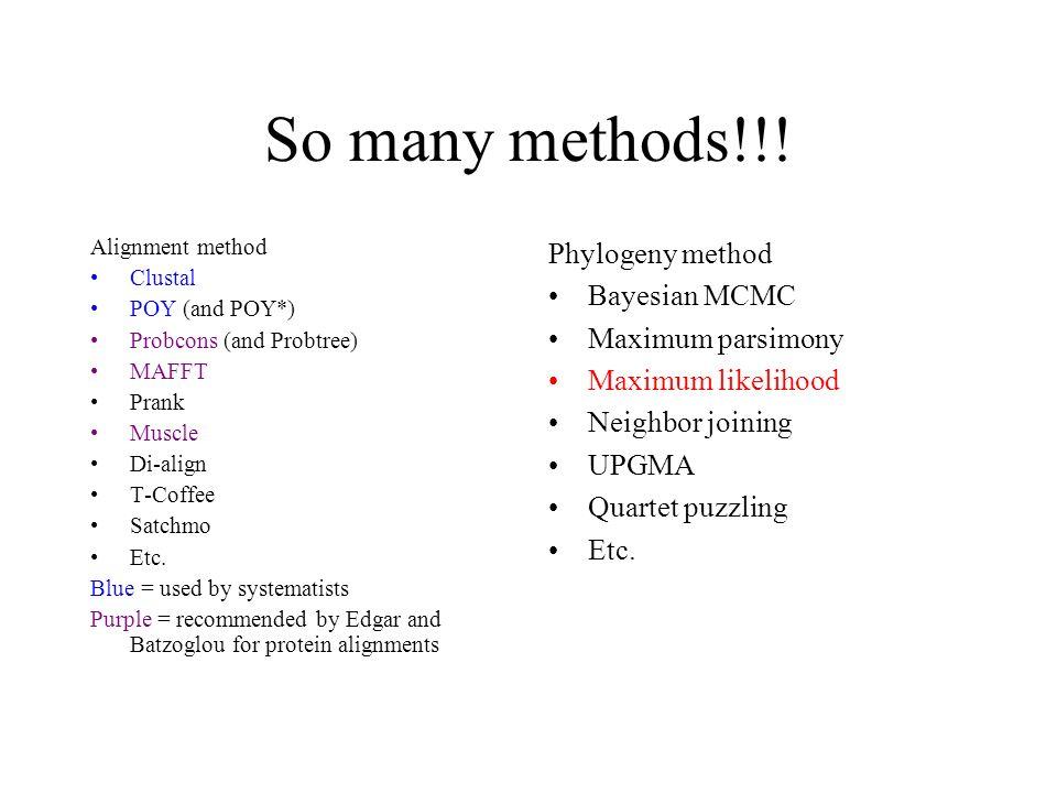 So many methods!!.