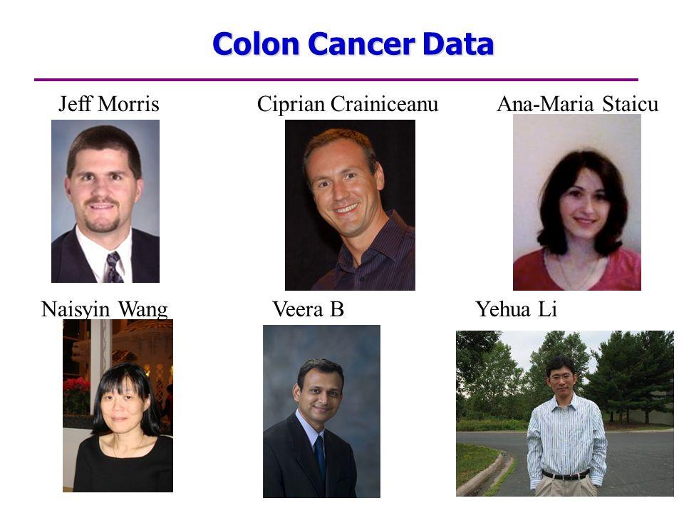Colon Cancer Data Jeff Morris Ciprian Crainiceanu Ana-Maria Staicu Naisyin Wang Veera B Yehua Li