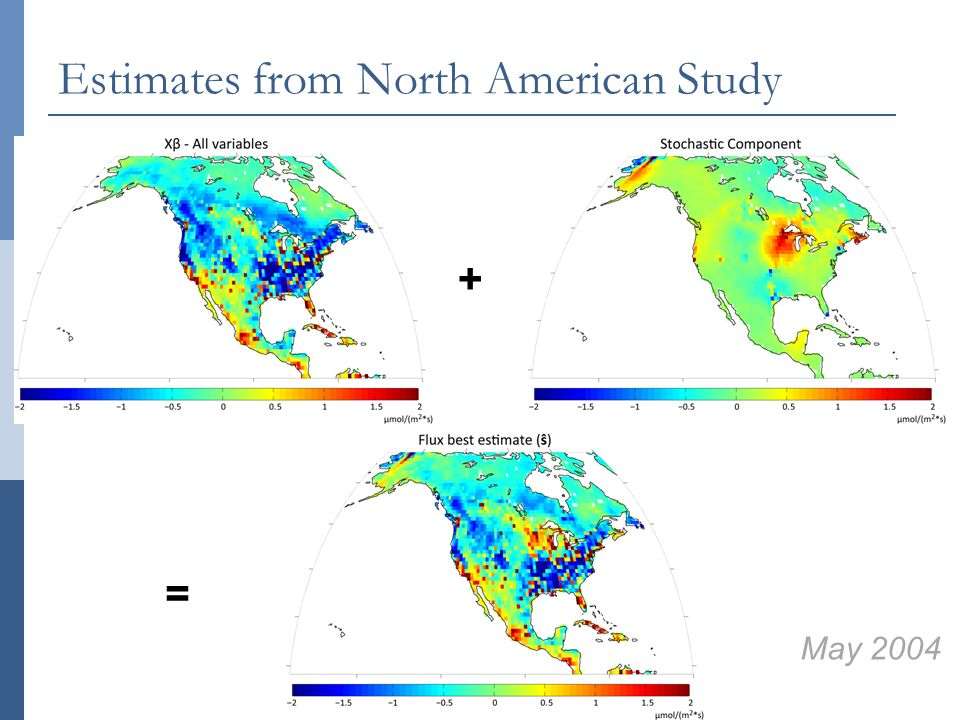 May 2004 + = Estimates from North American Study