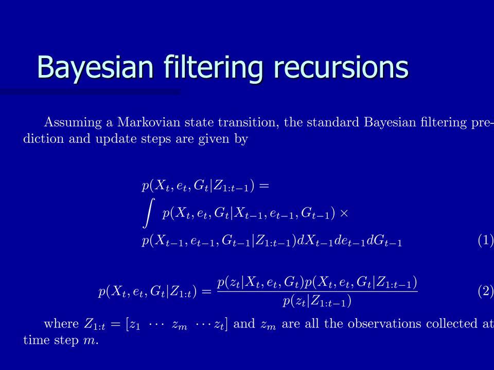 Bayesian filtering recursions