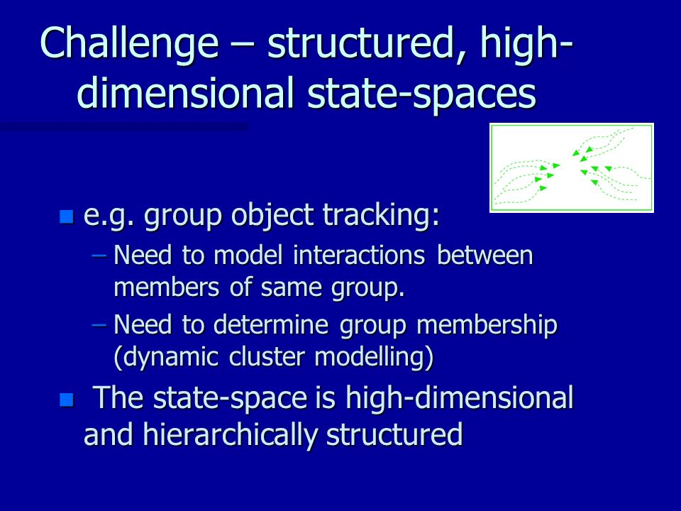 Challenge – structured, high- dimensional state-spaces n e.g.