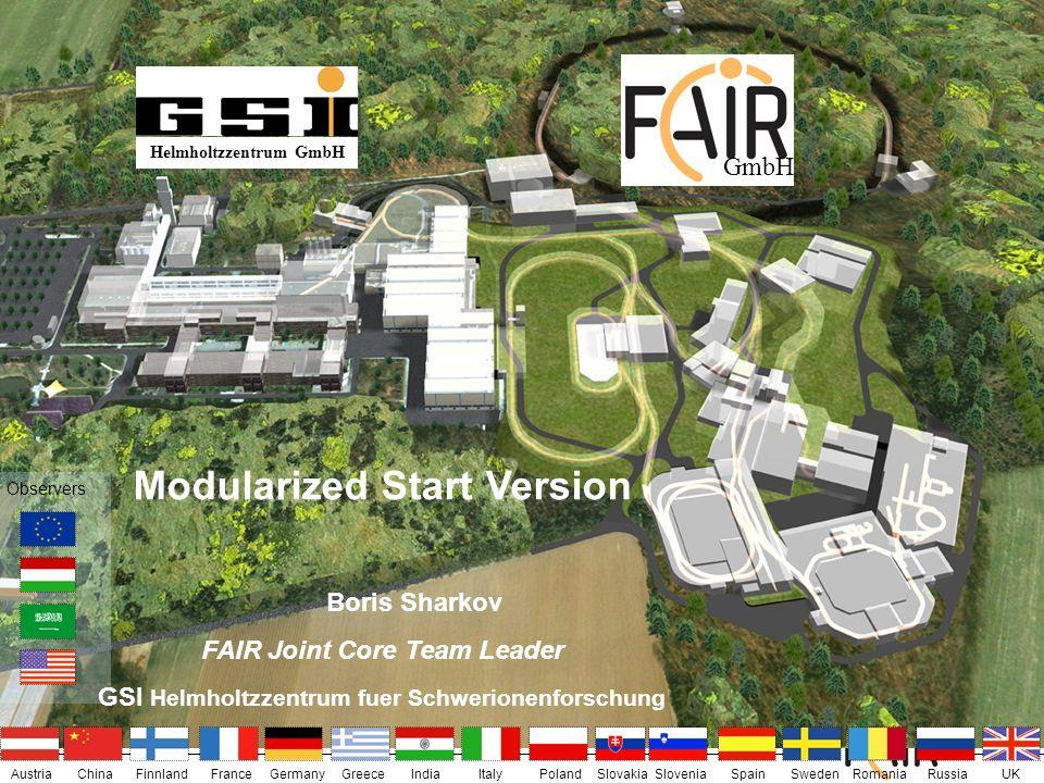 FAIR – Facility for Antiproton and Ion Research Helmholtzzentrum GmbH AustriaIndiaChinaFinnlandFranceGermanyGreeceUKItalyPolandSlovakiaSloveniaSpainSw