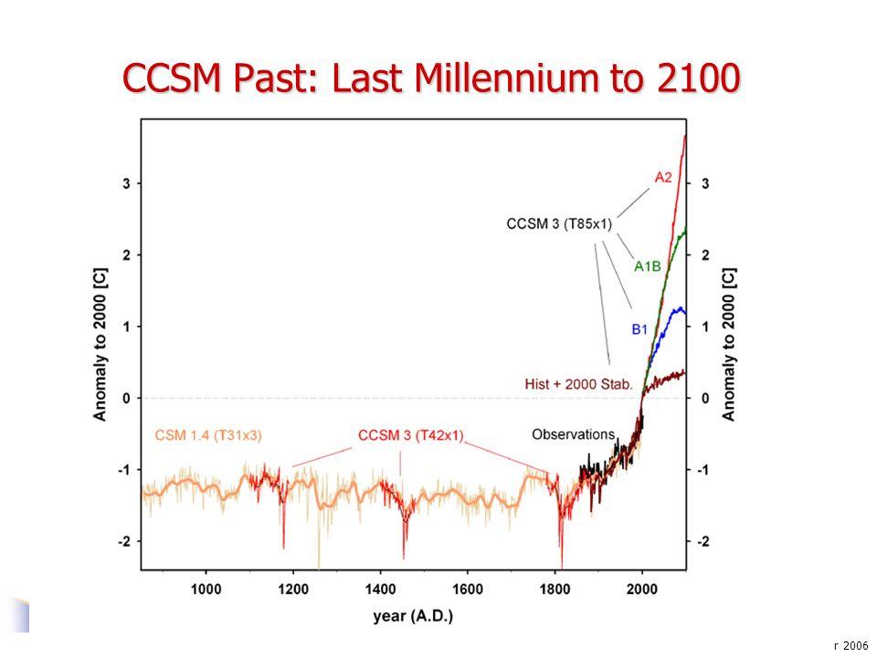 Gettelman: November 2006 CCSM Past: Last Millennium to 2100