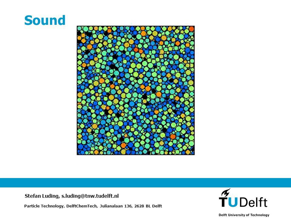 Sound Particle Technology, DelftChemTech, Julianalaan 136, 2628 BL Delft Stefan Luding, s.luding@tnw.tudelft.nl