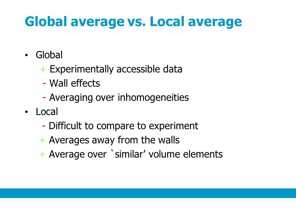 Global average vs.