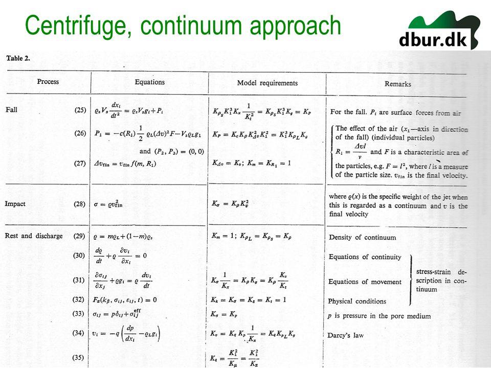 Centrifuge, continuum approach