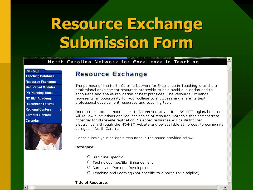 Resource Exchange Submission Form