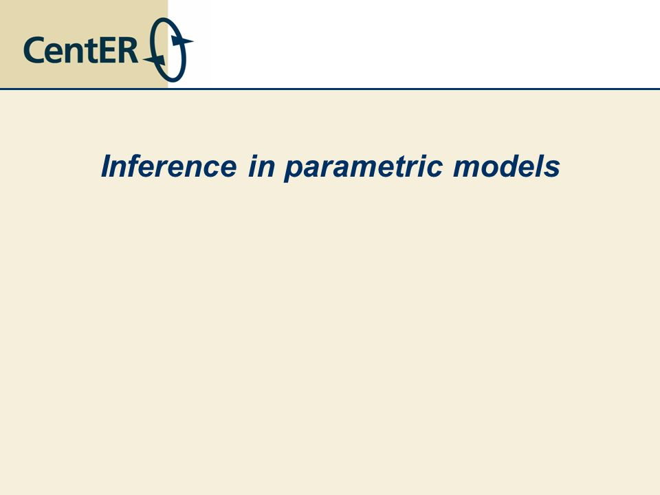 Inference in parametric models