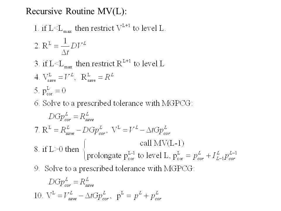 Recursive Routine MV(L):