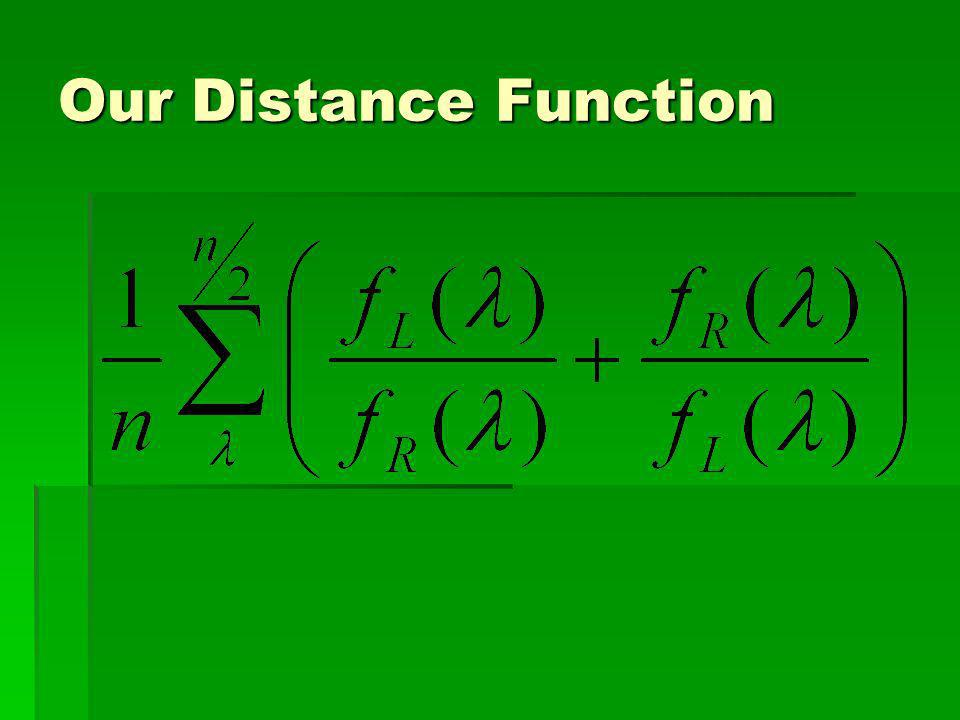 Our Distance Function