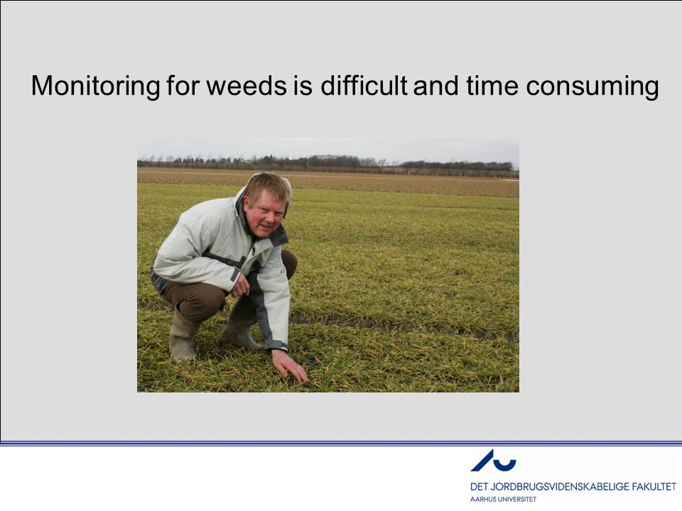 Monitoring for weeds is difficult and time consuming